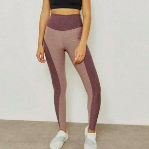 Nike Power Studio Color Block Training Leggings L